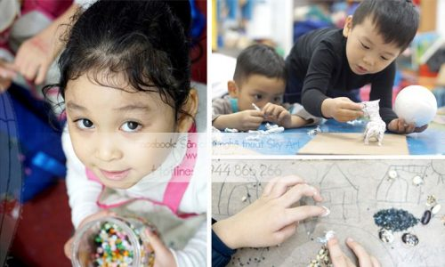 CHẠM – Nghệ thuật cho bé từ 3 – 5 tuổi.