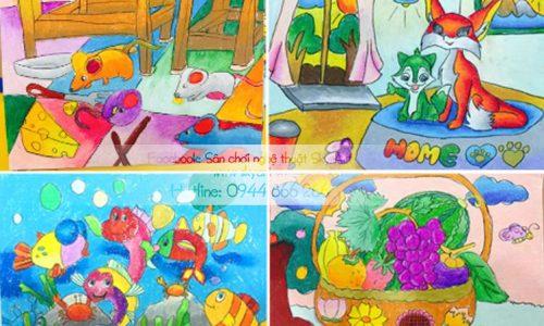 Lớp học vẽ cơ bản (4-9 tuổi).