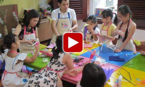 Lớp học Handmade tại Skyart lên sóng VTC10.