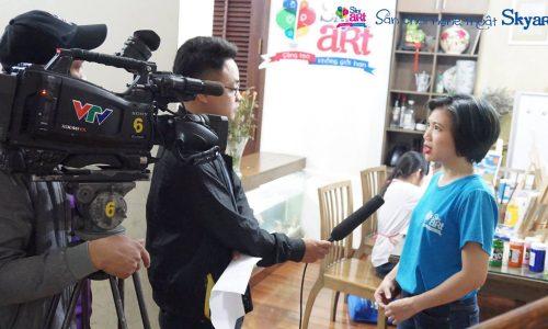 Skyart lên sóng với VTV3 Cafe sáng.